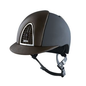 Kask CROMO TEXTILE BLACK / BROWN LEATHER -KEP Italia + Wkładka