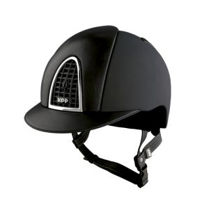 Kask CROMO TEXTILE BLACK / BLACK LEATHER - KEP Italia + Wkładka